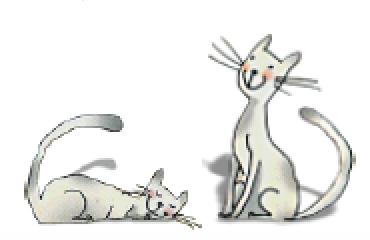 2 cats illustration