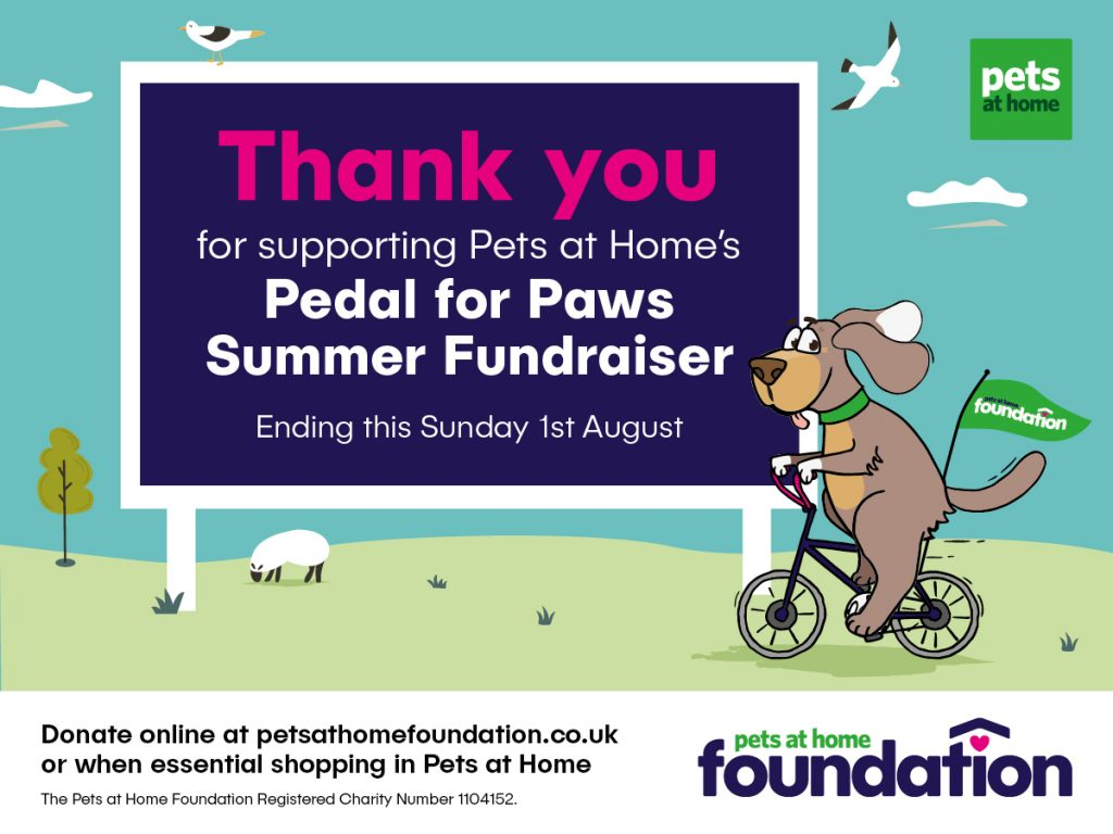 Thank you for supporting Pedal for Paws